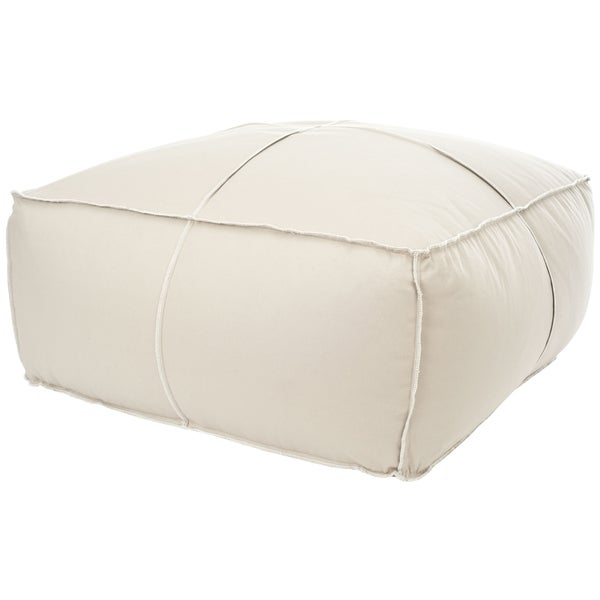 Safavieh Beige Large Poof Ottoman/Chair