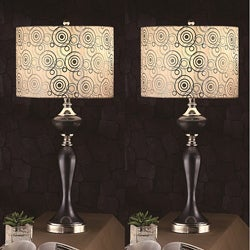 Zebrano 31-inch Table Lamps (Set of 2)