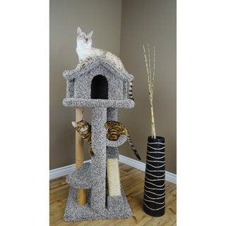"""New Cat Condos 46"""" Large Pagoda Cat Tree"""