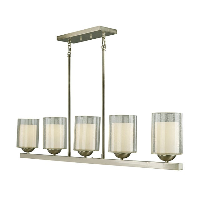 Woodbridge Lighting Cosmo 5 Light Satin Nickel Pendant