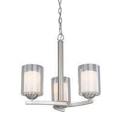 Woodbridge Lighting Cosmo 3-light Satin Nickel Chandelier