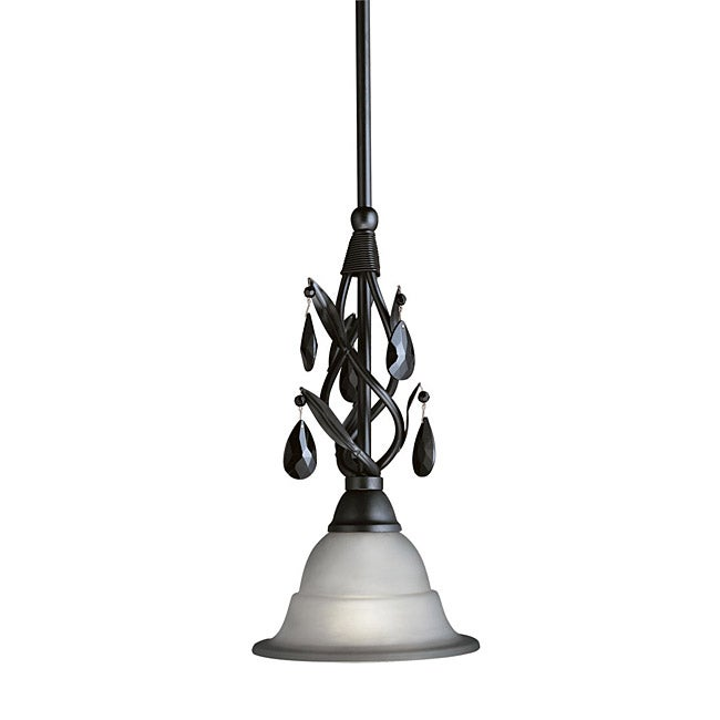 Woodbridge Lighting Avigneau 1 Light Black Mini Pendant