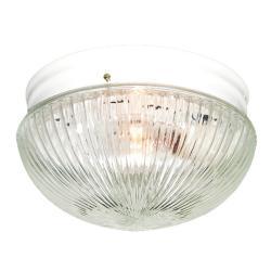 Woodbridge Lighting Basic 1-light White Prism Glass Flush Mounts (Pack of 6)