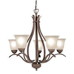 Woodbridge Lighting Beaconsfield 5-light Marbled Bronze Chandelier