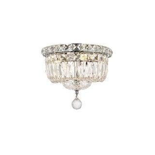 Elegant Lighting Crystal Chandelier Flush Mount Light