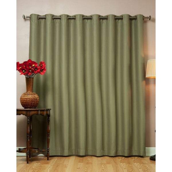 Aurora Home Wide Fire-retardant 96-inch Polyester Blackout Curtain Panel