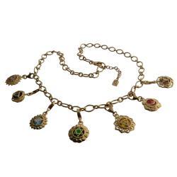 Gold Vermeil Chakra Mini Charm Necklace (Thailand)