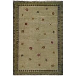 Nepalese Sol Sage Wool Rug (8 x 10)