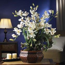 Large Cymbidium Silk Flower Arrangement