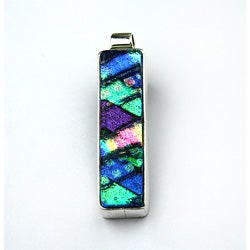Sterling Silver Dichroic Rectangle Pendant (Mexico)