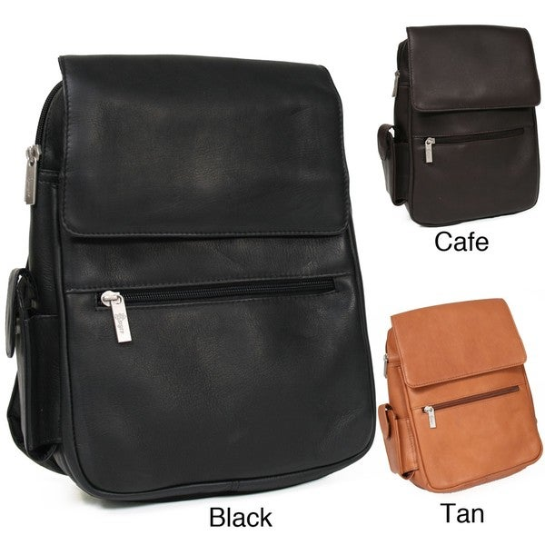 Royce Vaquetta Leather Tablet/ E-Reader Backpack