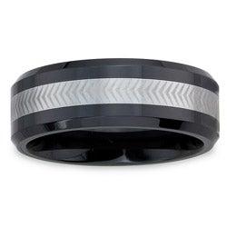 Men's Tungsten Ceramic Laser -Etched Band (8 mm)