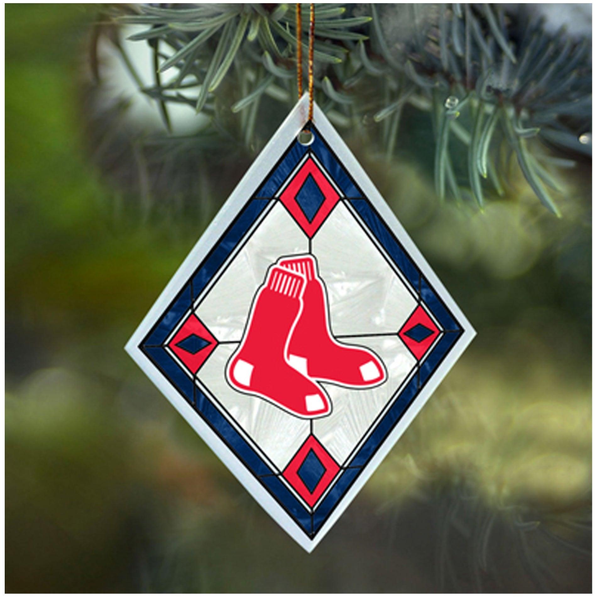 Boston Red Sox MLB Art Glass Ornament