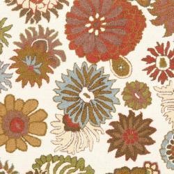 Safavieh Ivory Blossom Handmade Wool Area Rug (8' 10')