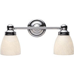 Troyes Collection Chrome Finish 2-light Bath Bar