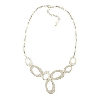Kate Bissett Silvertone Oval Link Necklace