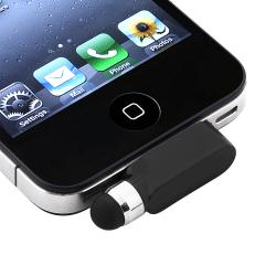 INSTEN Black Stylus with Dust Cap for Apple iPhone/ iPod Touch/ iPad