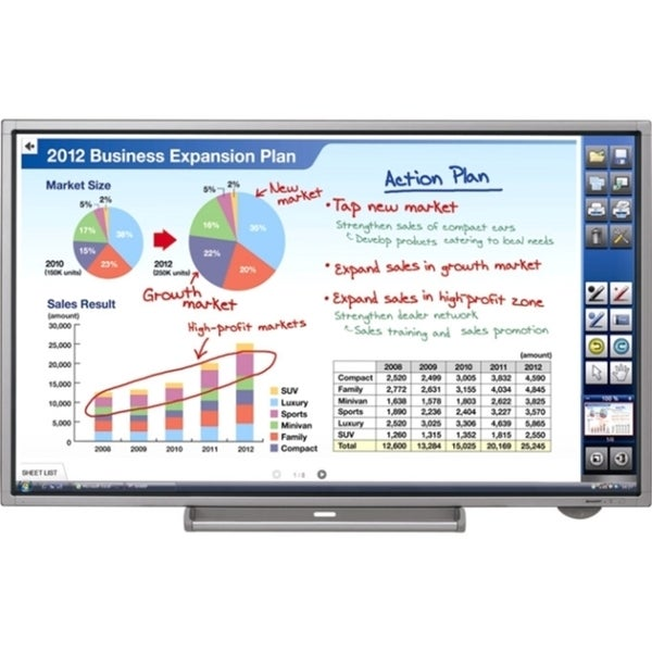 "Sharp PN-L702B 70"" LED LCD Touchscreen Monitor - 16:9 - 6 ms"