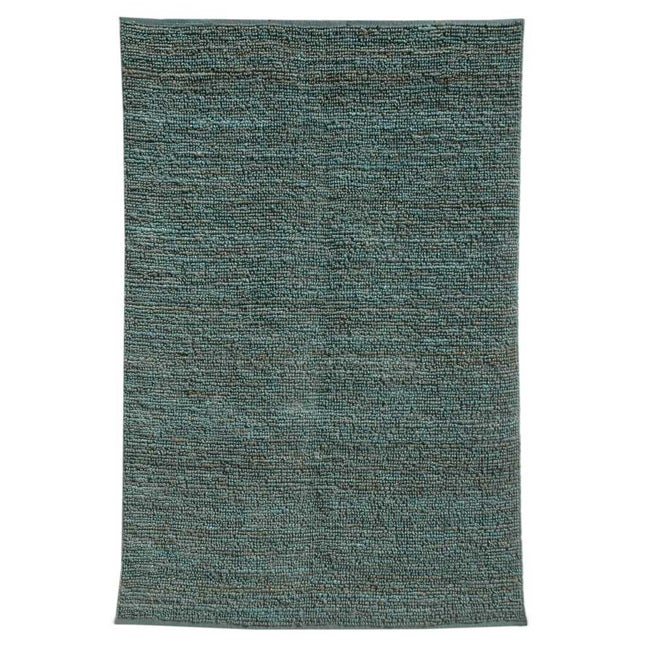 Handwoven Blue Jute Area Rug (8' x 10')