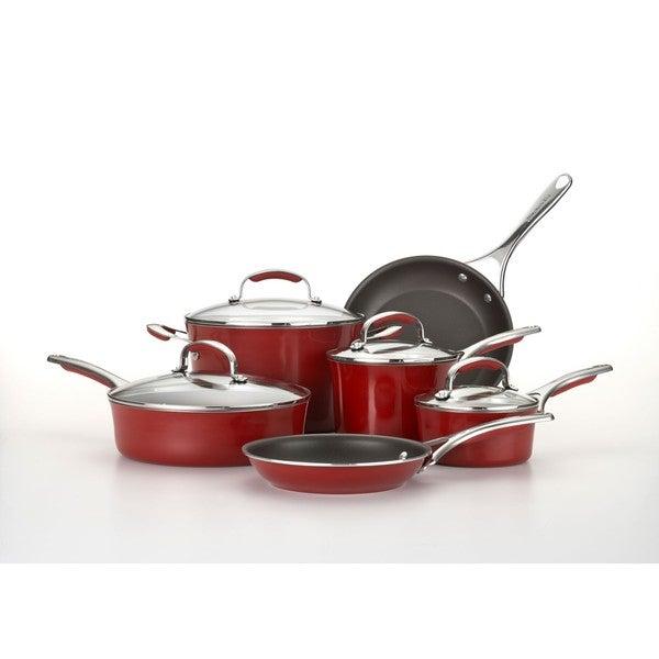 KitchenAid Gourmet Porcelain Enamel Nonstick 10-pc Cookware Set