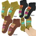 Hand-knit Women&#39;s Colorful Booties (Nepal)