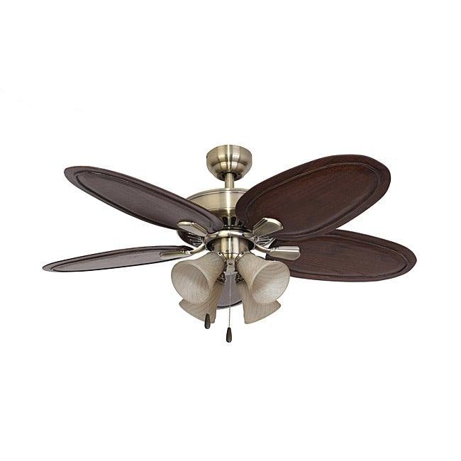 EcoSure Hamilton 4-light Aged Brass 52-inch Ceiling Fan