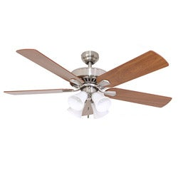 EcoSure Fair Haven 4-light Brushed Nickel 52-inch Ceiling Fan