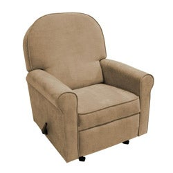 The Rockabye Glider Co. Jayden Tan Microfiber Recliner