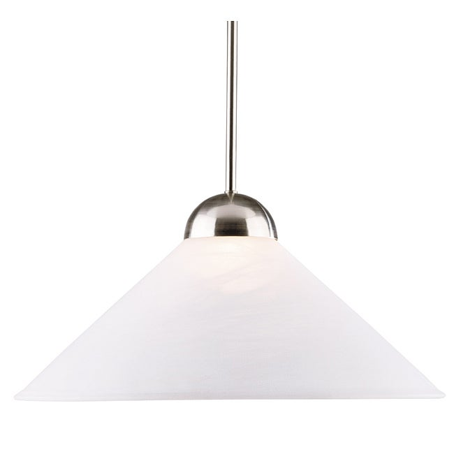 Jefferson 1-light Brushed Steel Convertible Pendant