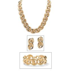 PalmBeach Goldtone 3-piece Costume Jewelry Set Bold Fashion