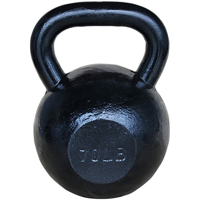 Sunny Black 70-pound Kettle Bell