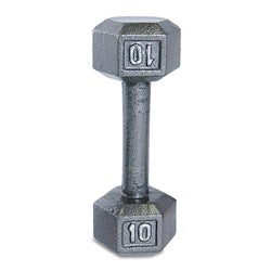 CAP Barbell 10 lb Grey Cast Iron Hex Dumbbell