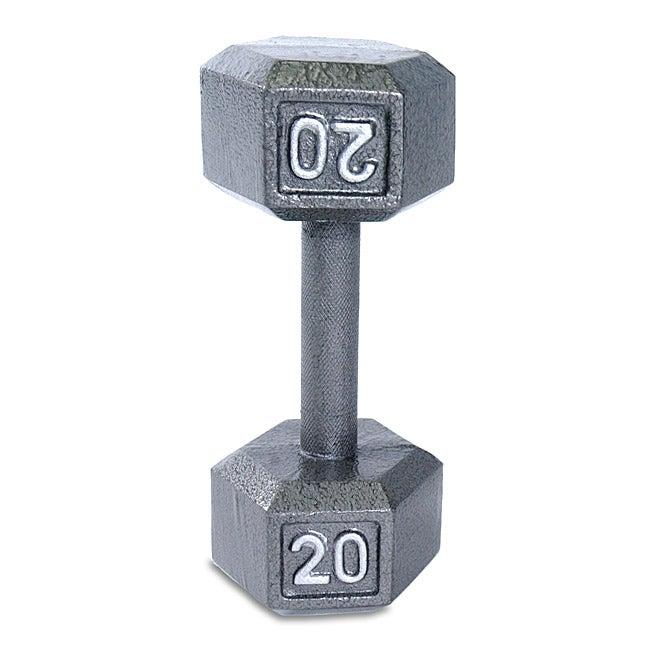 CAP Barbell 20 lb Grey Cast Iron Hex Dumbbell
