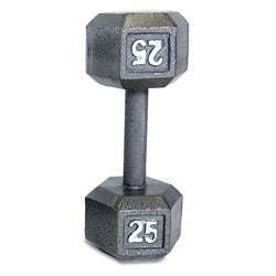 CAP Barbell 25-pound Gray Semigloss Cast-iron Hexagon Dumbbell