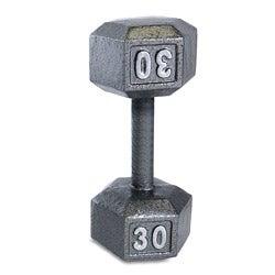 CAP Barbell 30 lb Grey Cast Iron Hex Dumbbell