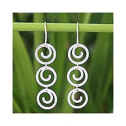 Sterling Silver 'Energy' Earrings (Thailand)