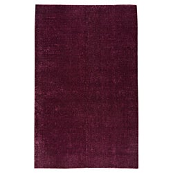 Hand-woven Cher Purple Rug (8' x 10')