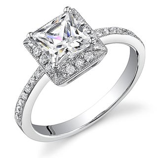 18k White Gold 1ct TDW Certified Diamond Engagement Ring (I, SI3)