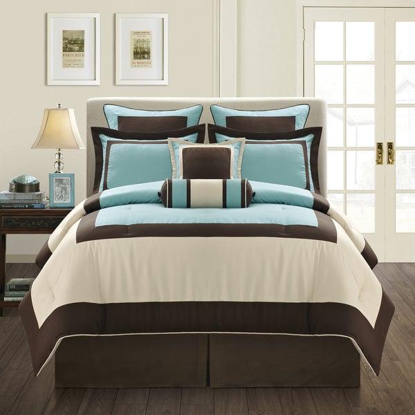 Aqua Gramercy California King-size 8-piece Comforter Set