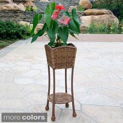 Wicker Patio Planter Stand