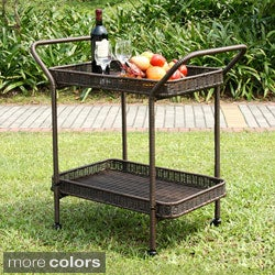 Wicker Patio Serving Cart