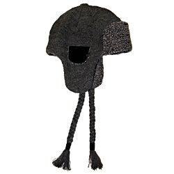 Muk Luks Men's Knit Faux Sherpa Lined Trapper Hat