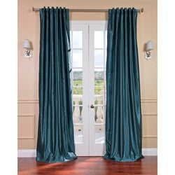 Peacock Vintage Faux Textured Dupioni Silk Curtain Panel