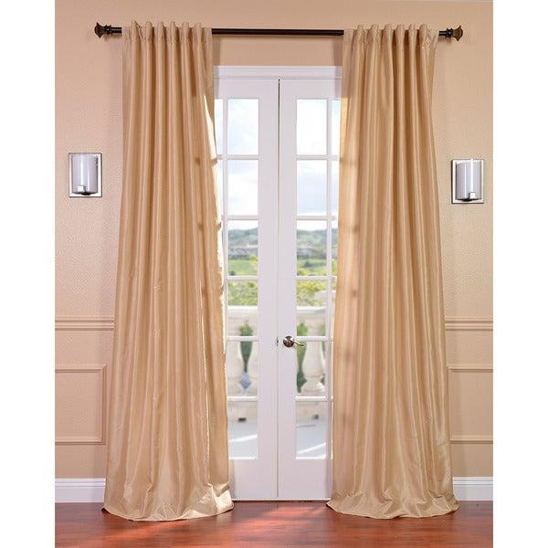 Almond Vintage Faux Textured Dupioni Silk 108-inch Curtain Panel