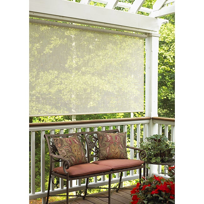 Sahara Sand Outdoor Roll-up Blind (48 in. x 72 in.)