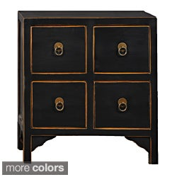 Wood 4-drawer End Table
