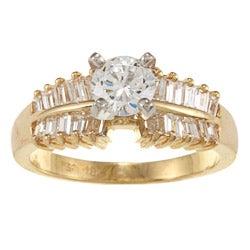 Kabella 18k Yellow Gold Cubic Zirconia and 7/8ct TDW Diamond Ring (G-H, VS1-VS2)