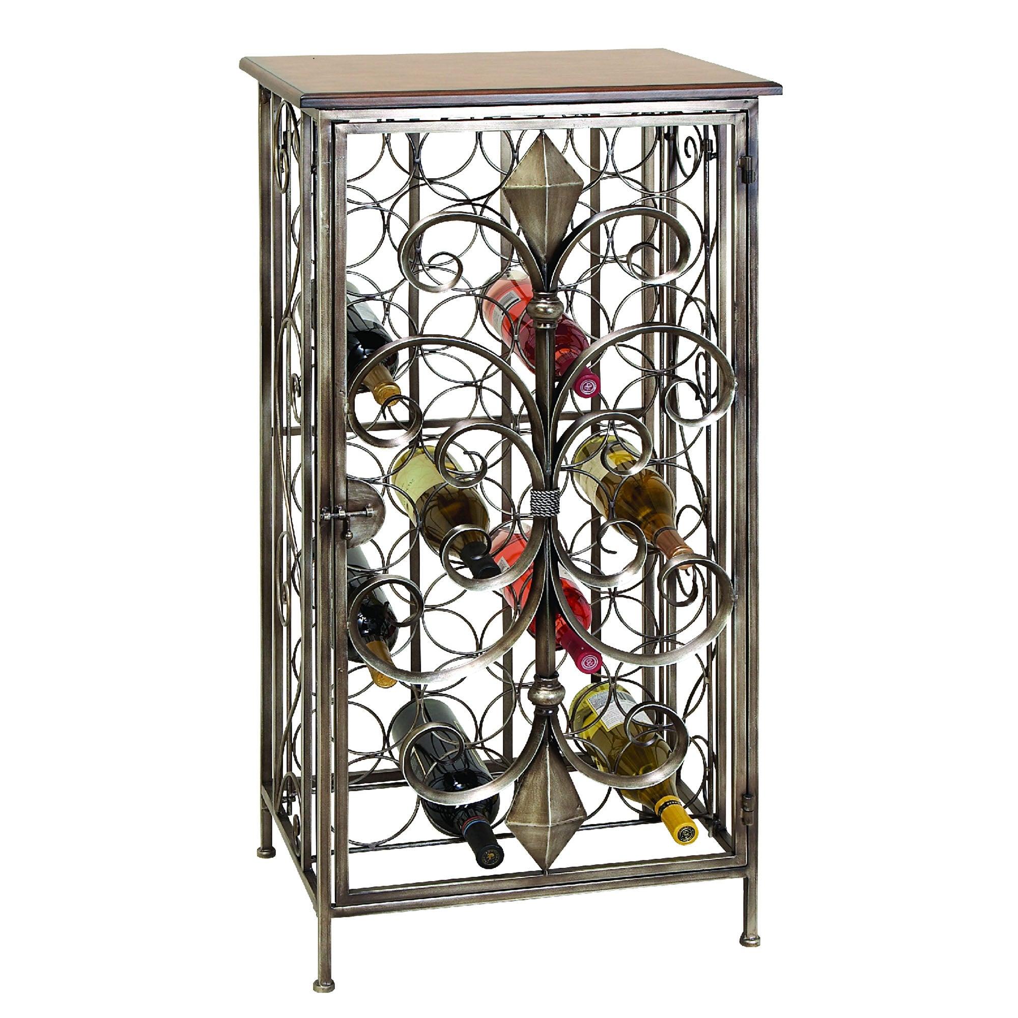 Casa Cortes Wrought Iron 32-bottle Wine Holder Rack
