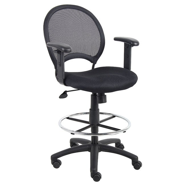 Boss Mesh Back Drafting Chair with Adjustable Arms