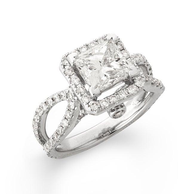 14k White Gold 3 1/8ct TDW Princess-Cut Diamond Engagement Ring (G-H, SI2)
